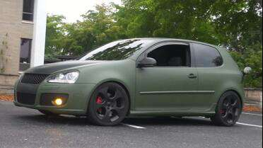 3M 1080 Matte Military Green and Black. Photo courtesy of All Under Wraps, Cape Coral, FL.