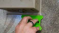 Pro Tools Speed Wing Lime (Hard) Squeegee in use