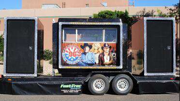 3M IJ180CV3 printed DJ Booth wrap. Photo courtesy of Fast-Trac Designs, Phoenix, AZ.