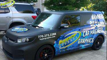 3M IJ180Cv3 printed graphics over 1080 Matte Black. Photo courtesy of Hyper Graphix, GA.