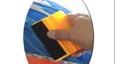 Lidco Felt Edge Wrapped Yellow Squeegee. Photo courtesy of Lidco.