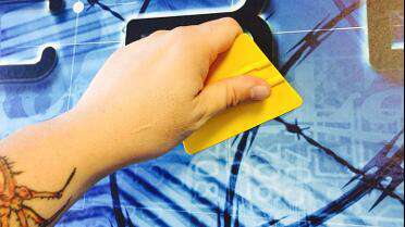 YelloTools YelloWrap Anti-Static Squeegee in use.