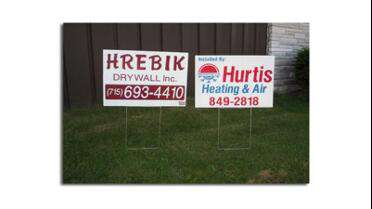 Coroplast Corrugated Sign Blanks with cut graphics.