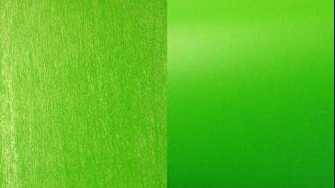 3M 8900 Brushed Metallic over 1080 Matte Green (Left) - 3M 1080 Matte Green (Right)