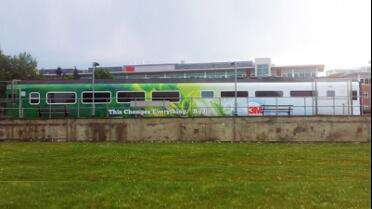 3M 480Cv3 printed wrap on train. Photo courtesy of 3M USA.
