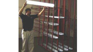 MetalCraft Industries Inc Light Weight Vinyl Wall Rack. Photo courtesy of MetalCraft.
