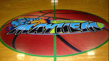 3M IJ 162-10  printed graphic on basketball court.