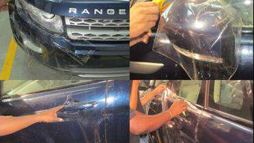 3M SGH6 paint protection being applied over original paint.  Photo courtesy of 3M.