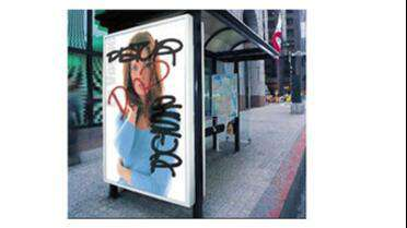 Seal Print Shield Anti-Graffiti PCTFE protecting printed graphics. Photo courtesy of Neschen Americas.