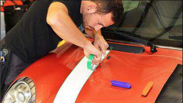 Knifeless Finish Line Tape used for stripes by Ultimate Wraps FL (UltimateWrapsFL.com)