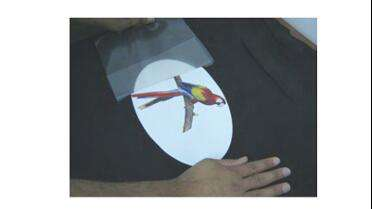 Sojar Thermal Transfer Tape used to transfer graphic onto shirt.
