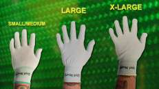 Geek Wraps Wrap Glove available in different sizes.