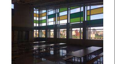 Orafol 8500 cut graphics used on windows. Photo courtesy of Remedy Glass LLC, Carroll, IA.