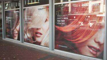 PanoFilm PanoRama 80/20 printed window graphic. Photo courtesy of PanoFilm.