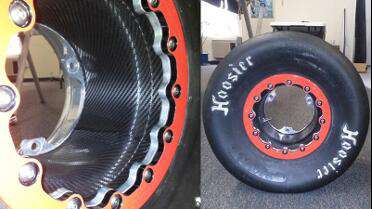3M 1080 Black Carbon Fiber wrapped inside wheel. Photo courtesy of Coastal Graphics 7, Hampton, VA.