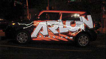 Arlon DPF 2400 printed wrap. Photo courtesy of Arlon.