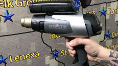 HL 2020E Heat Set Gun & HL Scan IR Temperature Scanner in use.