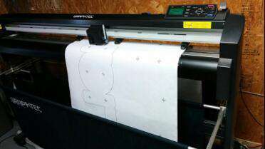 EZ Draw 50# Plotter Layout Paper in use. Photo courtesy of Ion Art Inc., Austin, TX.