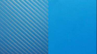 3M 8900 Carbon Fiber over 1080 Matte Riviera Blue (Left) - 3M 1080 Matte Riviera Blue (Right)