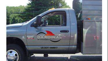 GF Concept 201 printed graphics on side of truck.