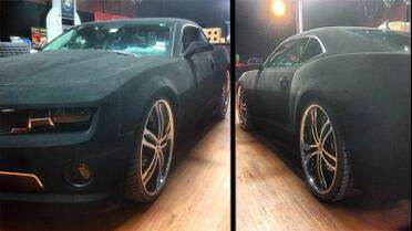 Mactac Velvet Tuning Film Black. Photo courtesy of Deluxe Garage, Houston, TX.