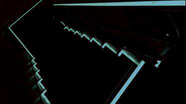 RTape GlowEFX on dark staircase. Photo courtesy of RTape.