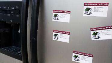 Magnum Magnetics 15 Mil Magnetic Sheeting with printed graphics for refrigerator magnets.