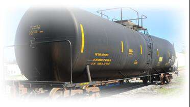3M Scotchcal 8000 Yellow on railcar. Photo courtesy of 3M.