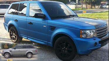 3M 1080 Metallic Matte Blue over Silver original paint. Photo courtesy of Picture This, Mandeville, LA.