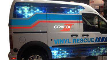 Orafol 5650RA printed vehicle graphics. Photo courtesy of Orafol USA.