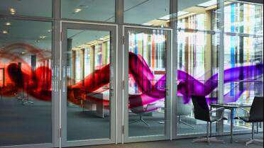 3M IJ 3650-114 printed window graphic.
