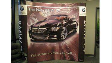Lamex 3 Mil Polycarbonate Laminate over printed pop up display.