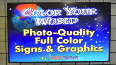 3M IJ35C printed sign. Photo courtesy of FastSigns