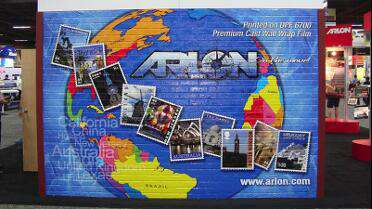 Arlon DPF 6700 printed brick wall wrap. Photo courtesy of Arlon.