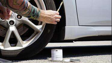 3M Primer 94 used in wheel well before wrap.