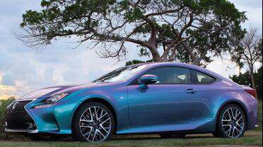 Wrapped in ORACAL 970RA Shift Effect Turquoise/Lavender. Photo courtesy of ORAFOL USA.