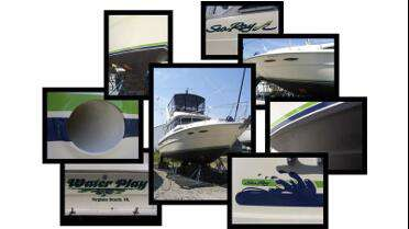 Orafol 751 cut graphics on boat.  Photo courtesy of Coastal Graphics7.
