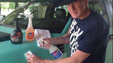 Frank using Rapid Prep/Rapid Remover to remove stains on a matte wrap