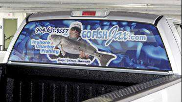 Orafol 3675 printed window graphic. Photo courtesy of Orafol USA.