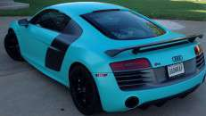 Audi:  Audi R8 solid color tiffany blue print with Mutoh Printer