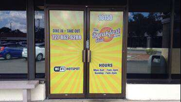 Solvex 70/30 Perf printed and installed on doors. Photo courtesy of Gulfside Signs & Wraps, Port Richey, FL.