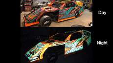 3M 780mC-10R printed wrap in day and night. Photo courtesy of Everything Sticky, Fernandina Beach, FL.