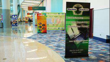Magic GFPOLY 8Mil Polypropylene printed pop banner.
