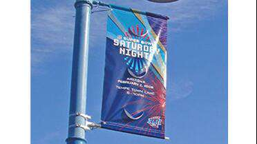 UltraFlex Double Sided Pole Banner PRO 18z. Photo courtesy of UltraFlex.