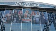 Econovue printed and installed on stadium windows by Artworks Commercial Graphics Inc, Irving, TX.