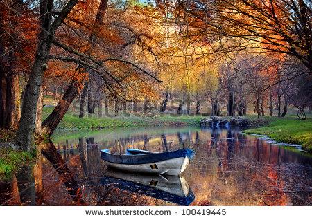 Stock photo colorful autumn landscape nature background 100419445