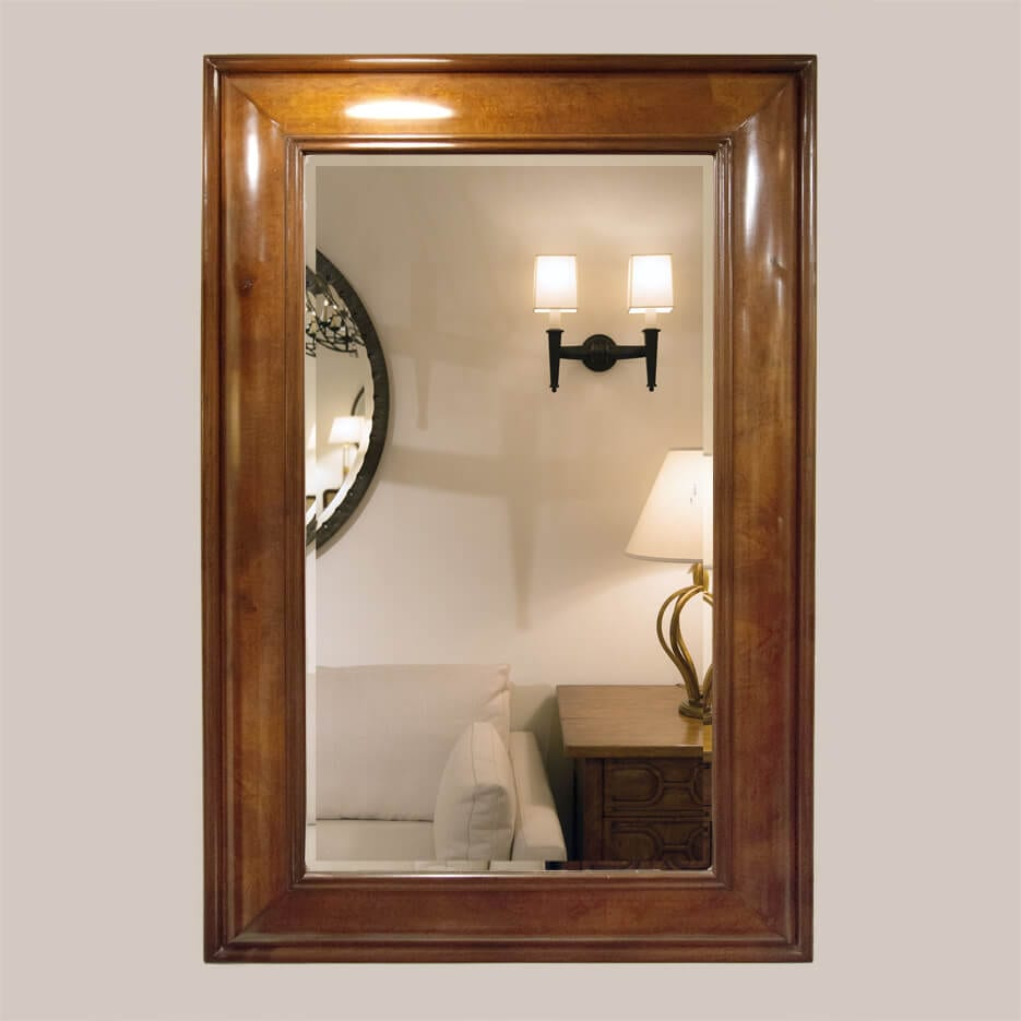 5016-Burlwood Mirror with Bevel-1