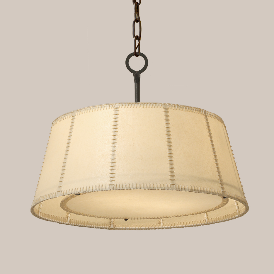 2174 hanging shade fixture wstitching - Paul Ferrante Chandelier