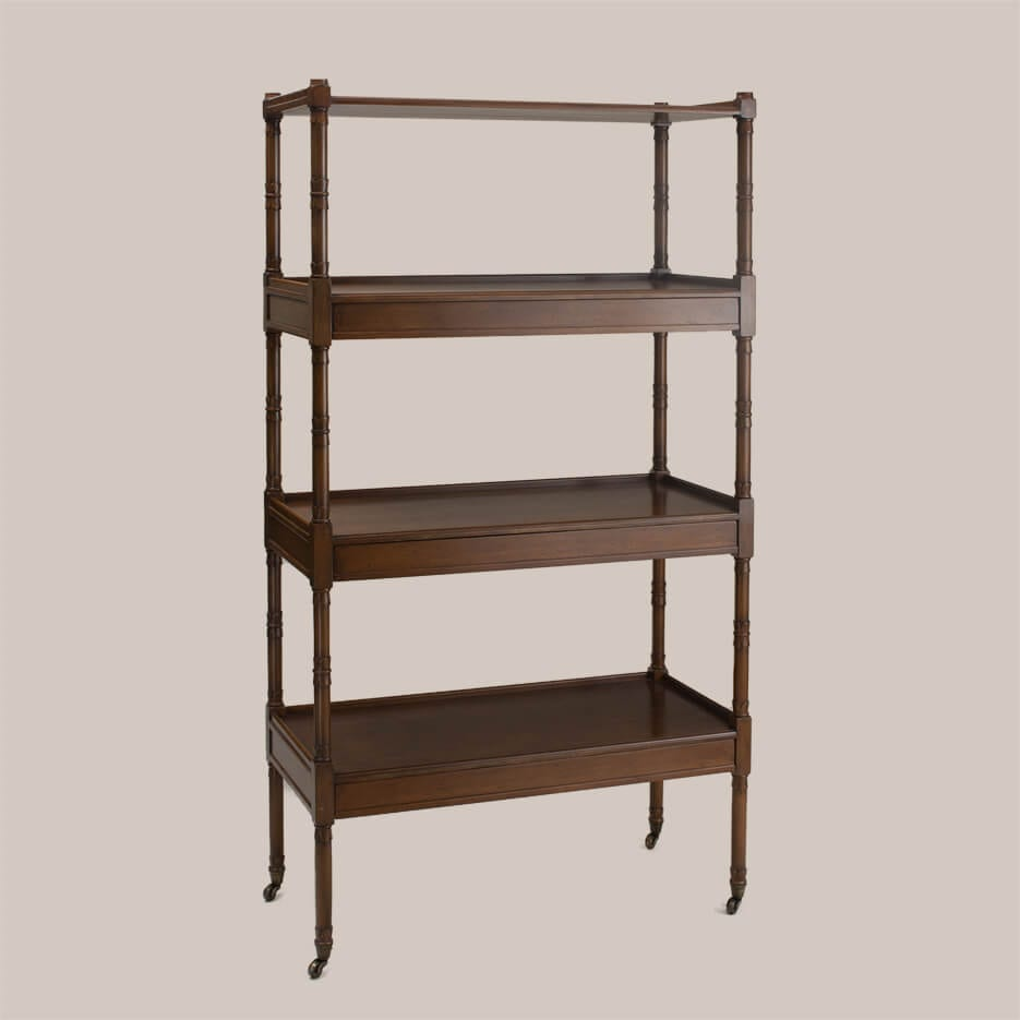 6108 wood etagere paul ferrante. Black Bedroom Furniture Sets. Home Design Ideas