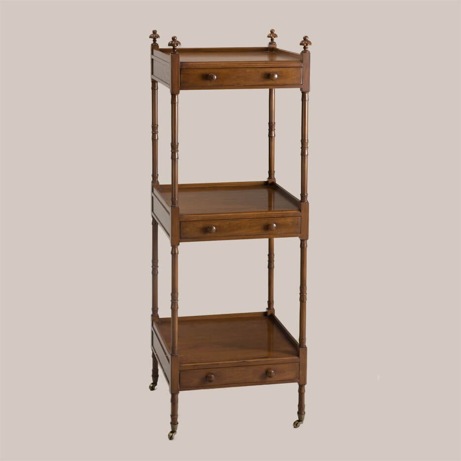 6158-Square 3-Tier Etagere with Drawers-1